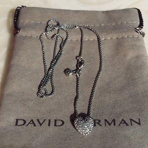 David Yurman Diamond Heart W Chain 20 inches